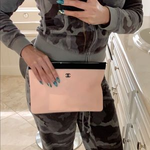 CHANEL Bags - Authentic Peach Pink Chanel Pouch / Clutch